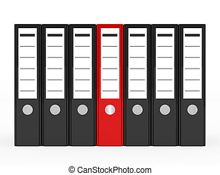 business folder in a series one red