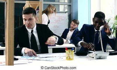 business, fonctionnement, bureau., ensemble, projet, leur, équipe