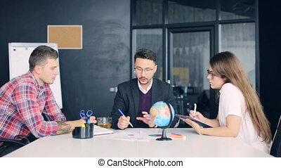 business, fonctionnement, bureau., moderne, démarrage, projet, équipe, nouveau