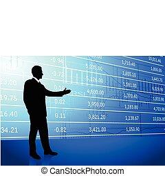 business, fond, homme, données, marché, stockage
