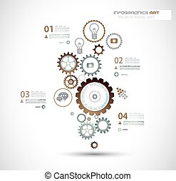 business, fond, technologie de pointe, infographics