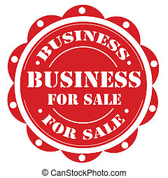 Business For Sale-label - Red label with text Business For...