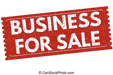 Business for sale sign or stamp on white background, vector ...