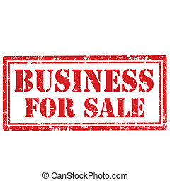 Business For Sale-stamp - Grunge rubber stamp with text...