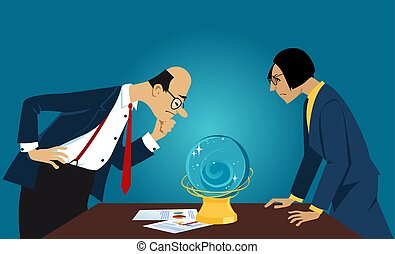Business forecast in a crystal ball