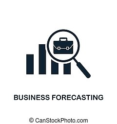 Business Forecasting icon. Creative element design from business strategy icons collection. Pixel perfect Business Forecasting icon for web design, apps, software, print usage