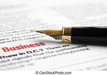 business, formulaire