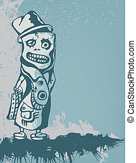 Business Freak. Funny Conceptual Vector Illustration.