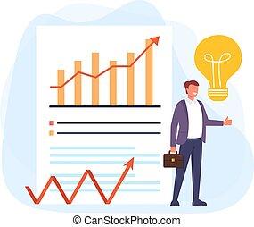 Business fresh idea success concept. Vector flat cartoon graphic design illustration