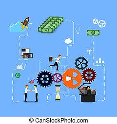 business, gabarit, infographics