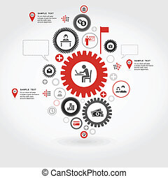 Business gear wheel