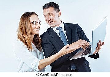 business, gens fonctionnement, ensemble, apprécier, amical