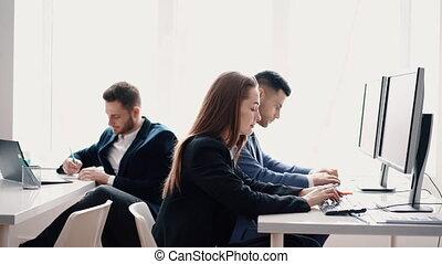 business, gens fonctionnement, leur, informatique, lieu ...