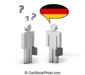 Business German Language Concept