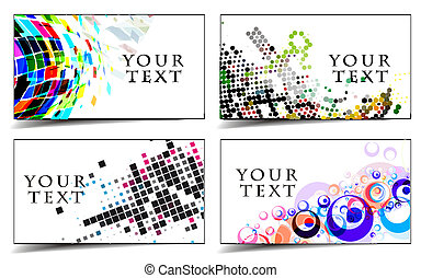 business & gift cards design - set of templates for business...