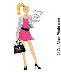 Business girl. Blond.