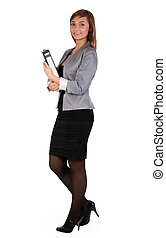 business girl with a office folder