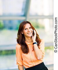 business girl with phone