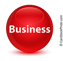 Business glassy red round button