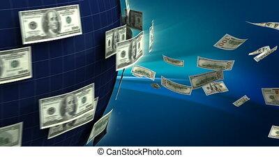business, global, dollar