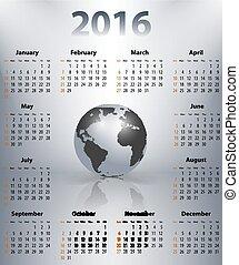 business, globe, anglaise, tache, année, mondiale, calendrier, 2016