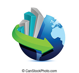 business globe illustration design