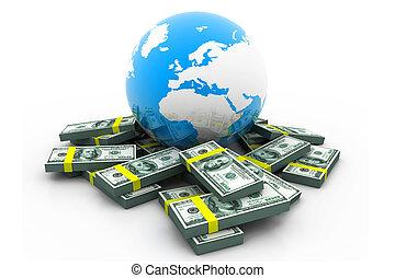 business), globe, money.(global