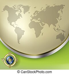 business, globe, résumé, fond