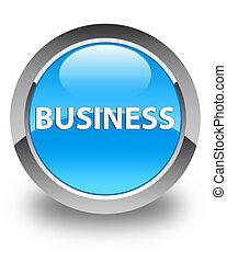 Business glossy cyan blue round button