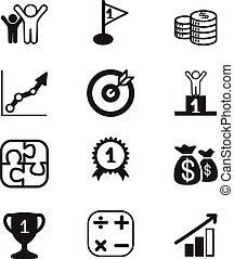 Business Goal concept icons