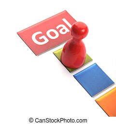 goal - business goal concept with word and game pawn