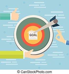business goals target concept vector illustration