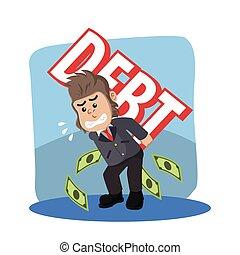 business gorilla carrying debt