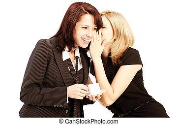 Business gossip. Women in the office
