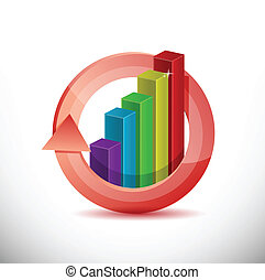 business graph 360 design concept illustration