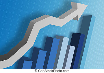 Business Graph - A business chart / graph showing the ...