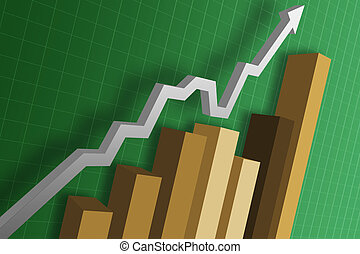 Business Graph - A business chart / graph showing the...
