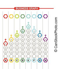 Business graph, abstract illustration