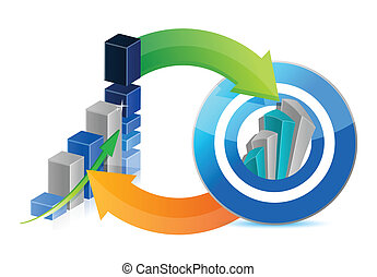 business graph and successful target