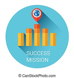 Business Graph Bar Success Growth Icon
