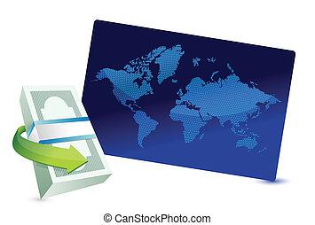 business graph board illustration