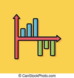 business graph chart icon