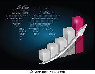 business graph chart illustration design