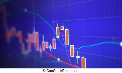 Business graph chart of stock market