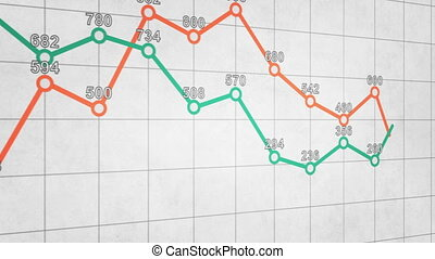 business graph chart seamless loop animation