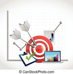 business graph concept illustration