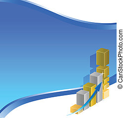 business graph design illustration