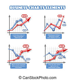 Business graph elements for infographics