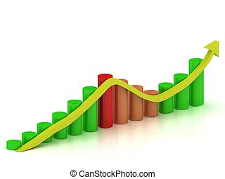 fluctuations in growth and reduction of the arrow - Business...