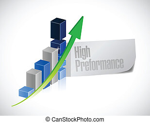 business graph. high performance illustration design over a ...